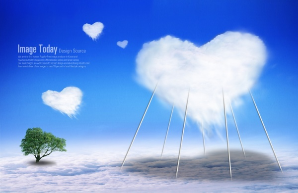 Love cloud elements PSD template PSD Templates free download – Love Templates Free