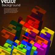 Link toSet of 3d concept vector background 02