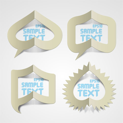 Elements of Creative Stickers labels vector 01