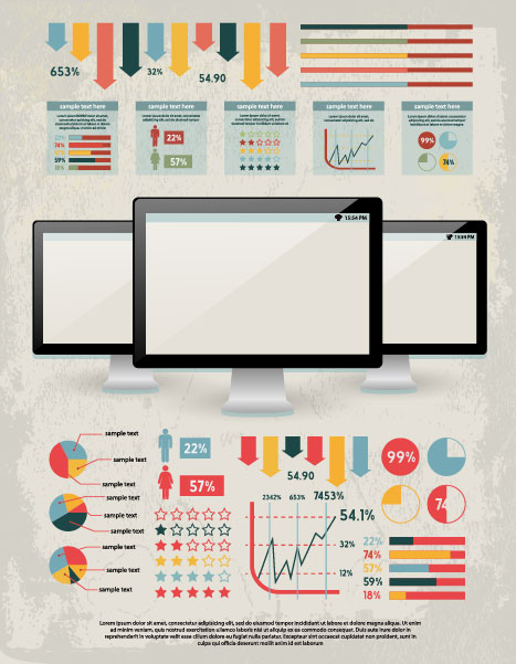 business infographics elements vector 02
