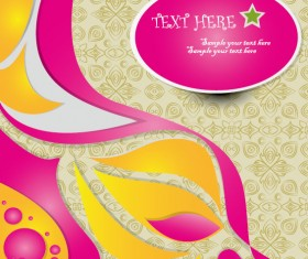 Set of Colorful abstract vector background art 05