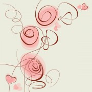 Link toHand painted of romantic floral background vector 05
