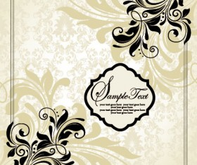 Vector of Exquisite Vintage Floral Borders 03