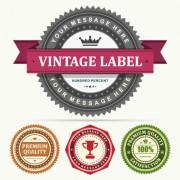 Link toSet of vintage business labels vector 03