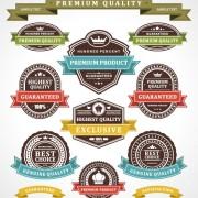 Link toSet of vintage business labels vector 04