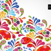 Link toColorful floral elements background art vector 02