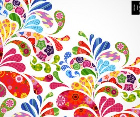 Colorful Floral elements background art vector 02