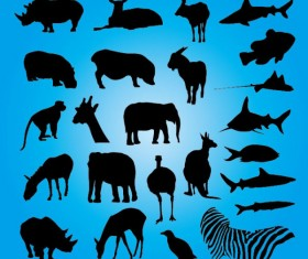 Free Vector Animals Silhouettes 01