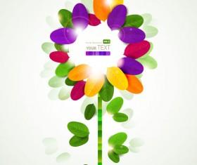 Set of Shiny Petal vector background 01