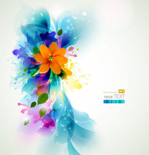 Set of Shiny Petal vector background 03