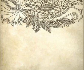 Elements of Vintage Floral Borders art vector 03