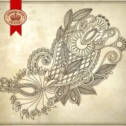 Link toElements of vintage floral borders art vector 04