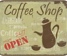 Vintage of Retro Coffee elements cards vector 01