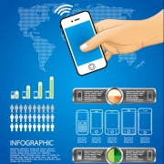 Link toElements of phone infographics vector set