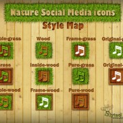 Link toNature social media icons