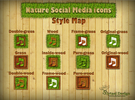 Nature Social Media Icons