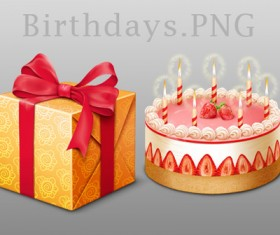 Birthday Elements MAC icons