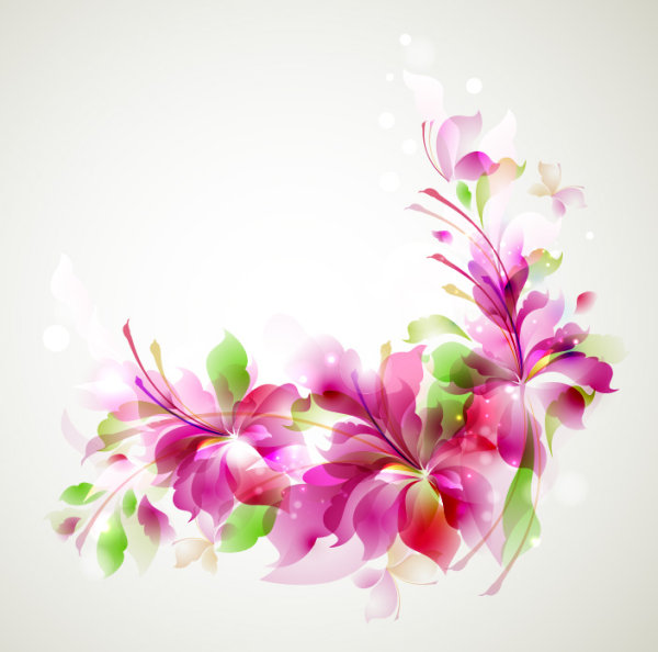 Stylish Shiny flower art background vector 01
