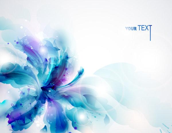 Stylish Shiny flower art background vector 03