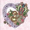 Romantic and love floral Pattern