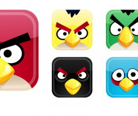 vivid Angry Birds Icons