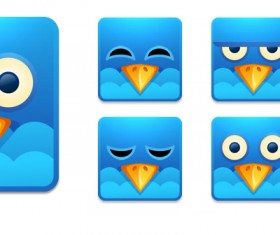 Twitter Square Angry bird Icons