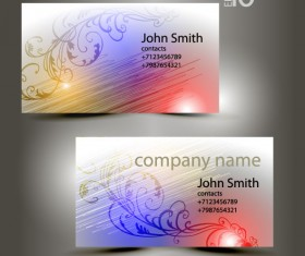 Abstract of Shiny business cards vector 01