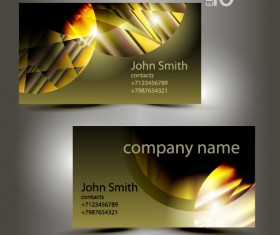 Abstract of Shiny business cards vector 03