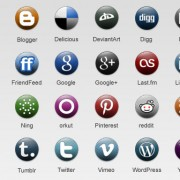 Link toDifferent round dots social icons
