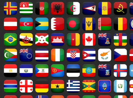 Different Country of Flags Icons