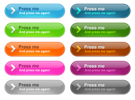 Colorful Dummy Web Buttons