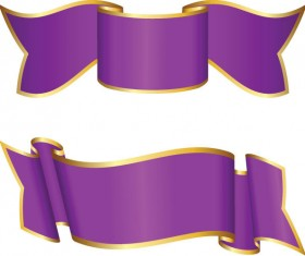 Set of luxurious Ribbon vector 02