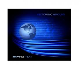 Set of Blue globe vector background 01