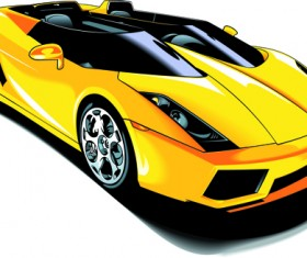 Set of Various Sport Cars vector 03