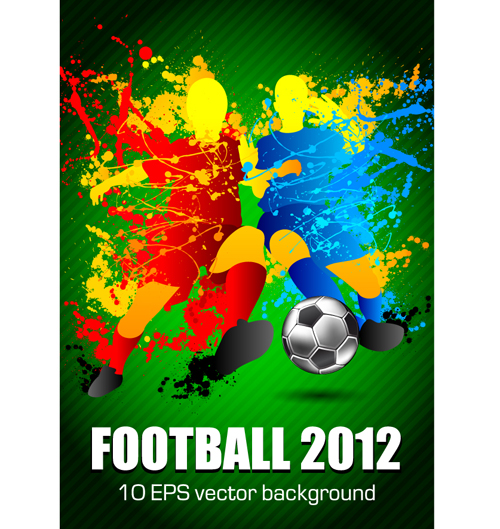 Football euro cup 2012 elements background vector 03
