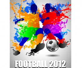 Football euro cup 2012 elements background vector 04