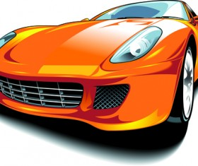 Set of Various Sport Cars vector 04