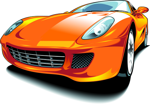 Set of Various Sport Cars vector 04 free download