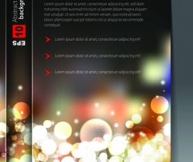 Set of Cover brochure and poster design elements vector 03
