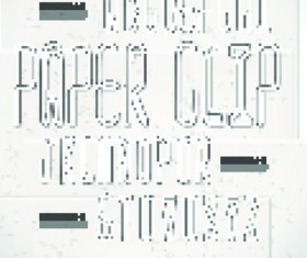 Paper shaped of Alphabet and numbers vector art 05