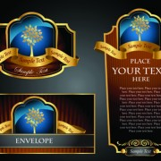 Link toLuxury of black and gold labels vector 03