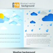 Link toSet of brochure page two weather background vector 04