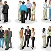 Link toVarious business people vector set 02