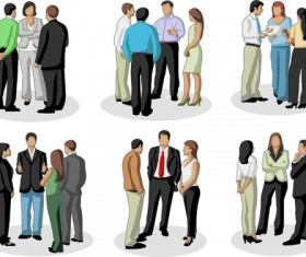 Various Business People vector set 02