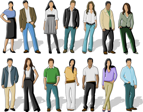 Various Business People vector set 03