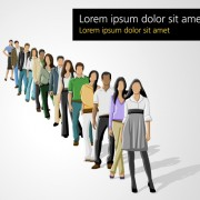 Link toVarious business people vector set 04