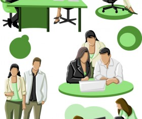 Various Business People vector set 05