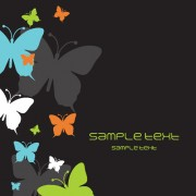 Link toBeautiful butterfly elements background vector 03