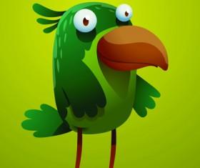 Set of Cartoon funny bird vector 05