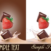 Link toVivid chocolate with strawberry vector 03